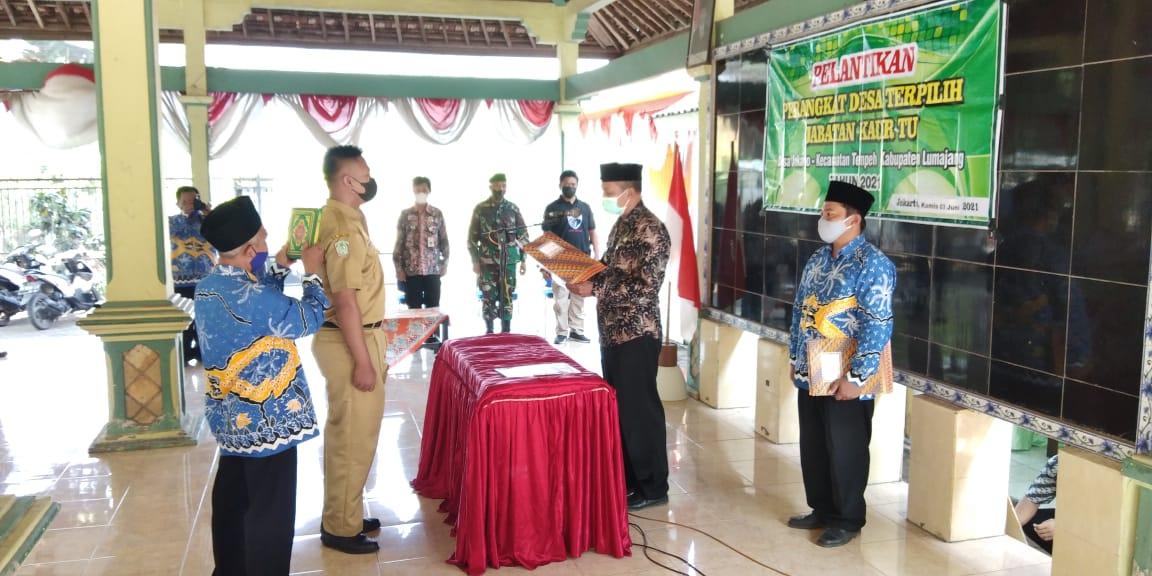 Pelantikan Perangkat Desa Terpilih Desa Jokarto